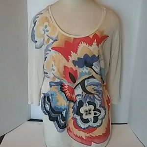 Lucky Brand Floral Design Long Sleeve (L)